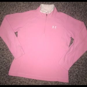 Under Amour long sleeve pink fleece woman's M